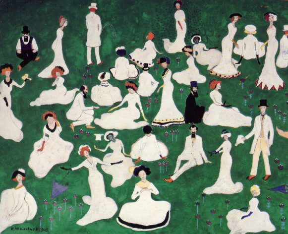 Image - Kazimir Malevich: Leisure of a High Society (1908).