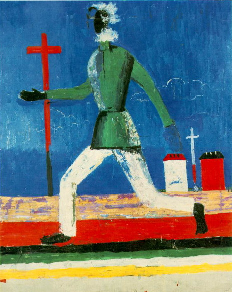Image - Kazimir Malevich: Man Running with Sword (1932).