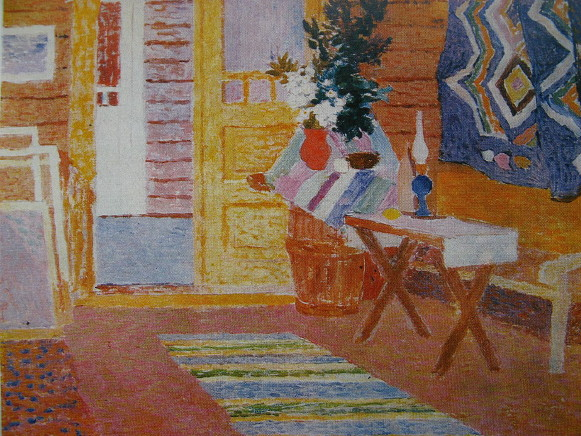 Image - Vitold Manastyrsky: Interior of Hutsul Home (1958).