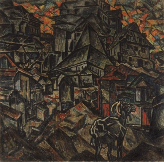 Image - Abram Manevich: Destruction of Ghetto (1919).