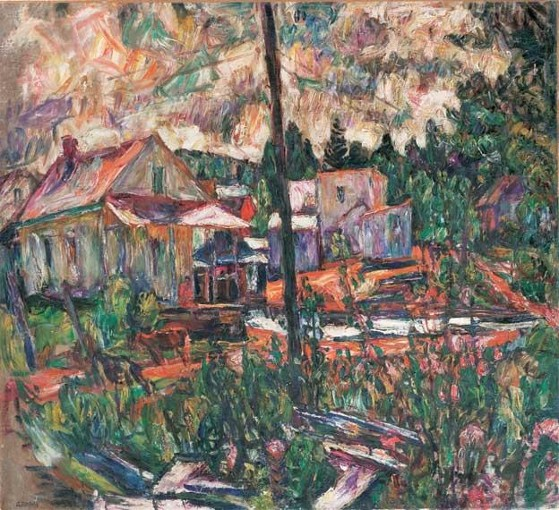 Image - Abram Manevich: Landscape with Houses.