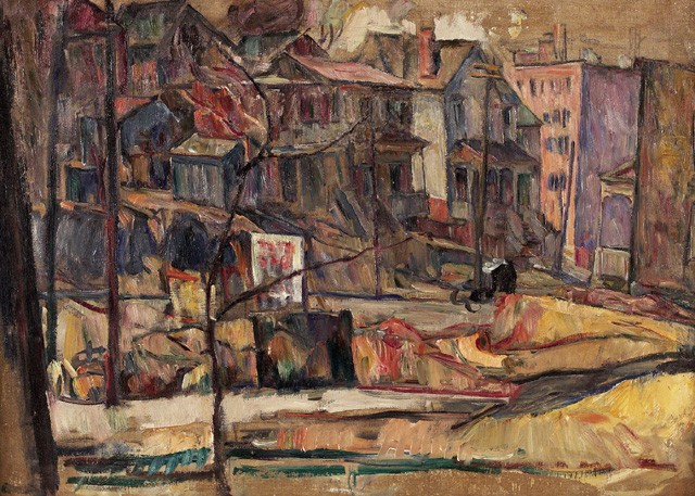 Image - Abram Manevich: A Neighbourhood Scene (1925).
