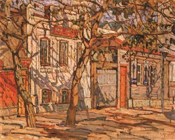 Image - Abram Manevich: A Street in a Provincial Town (1910s).