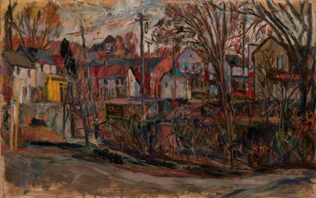 Image - Abram Manevich: A Town Street.