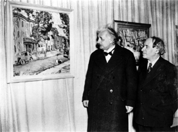 Image - Abram Manevich with Albert Einstein.