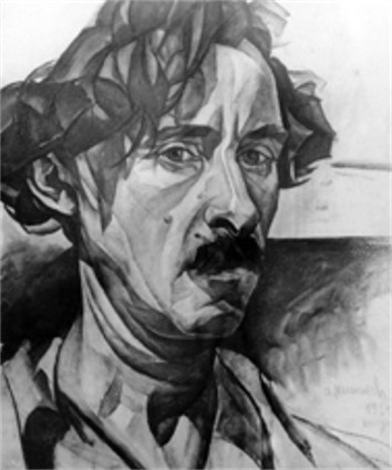 Image - Abram Manevich: Self-portrait.