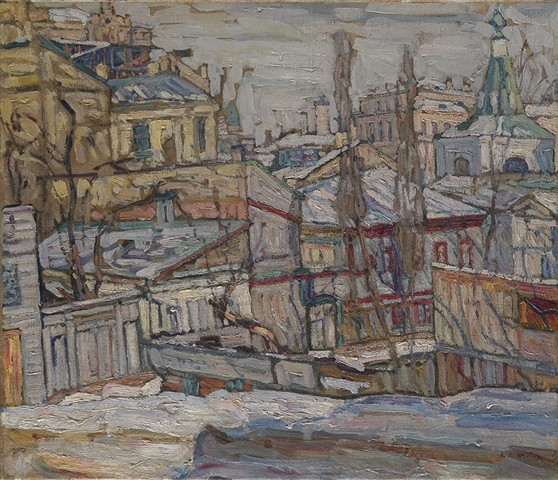 Image - Abram Manevich: A View of Kyiv (1910).