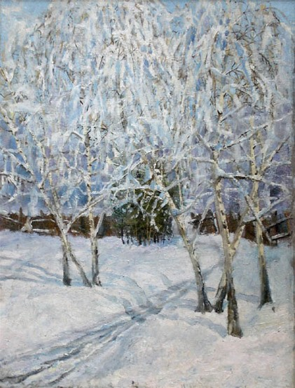 Image - Abram Manevich: Winter Landscape: Outskirts of Kyiv (1908).