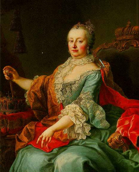 Image - A portrait of Maria Theresa (1759) by Martin van Meytens.
