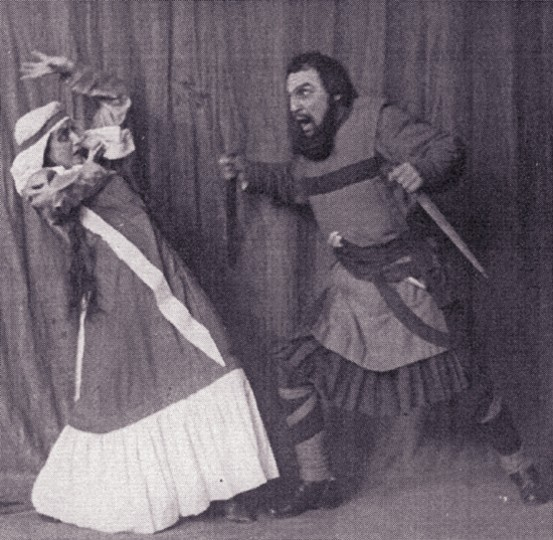 Image - Ivan Marianenko and Liubov Hakkebush in Les Kurbas production of Macbeth in Berezil (1924).