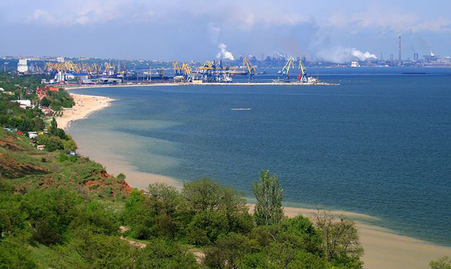 Image -- A view of the port of Mariupol.