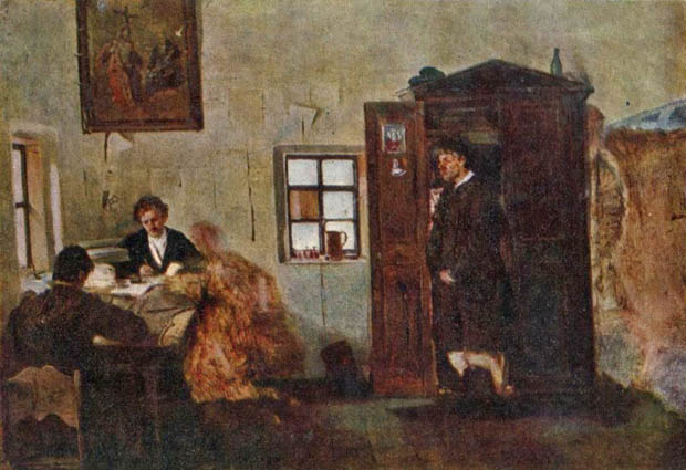 Image - Porfyrii Martynovych: At the Volost Inspector's Office.