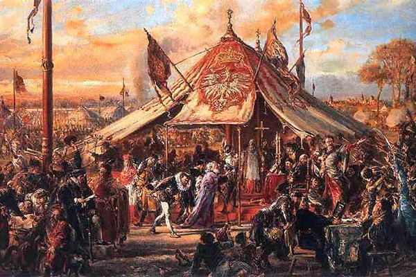 Image -- Jan Matejko: The Republic at the Zenith of Its Power. Golden Liberty. The Royal Election of 1573 (1889).