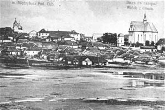 Image - View of Medzhybizh (early 20th century postcard).