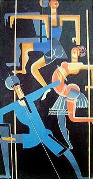Image - Vadym Meller: A Blue Dancer.