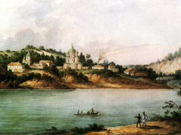 Image - A painting of the Mezhyhiria Transfiguration Monastery.