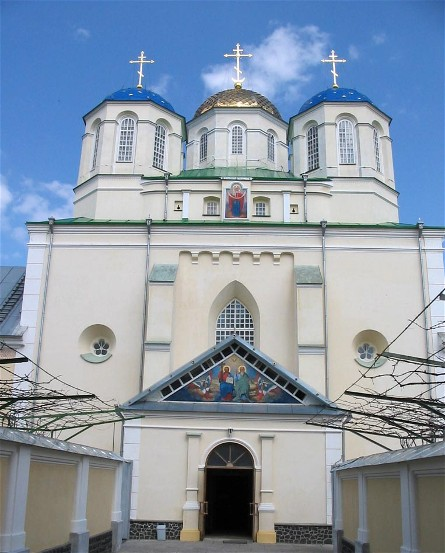Image - The Holy Trinity Church within the fortified monastery in Mezhyrich, Rivne oblast.