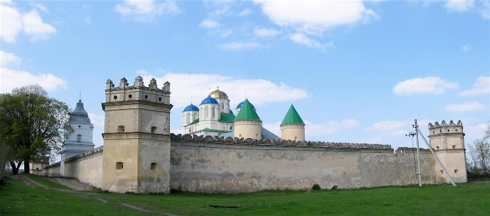Image - A fortified monastery in Mezhyrich, Rivne oblast.