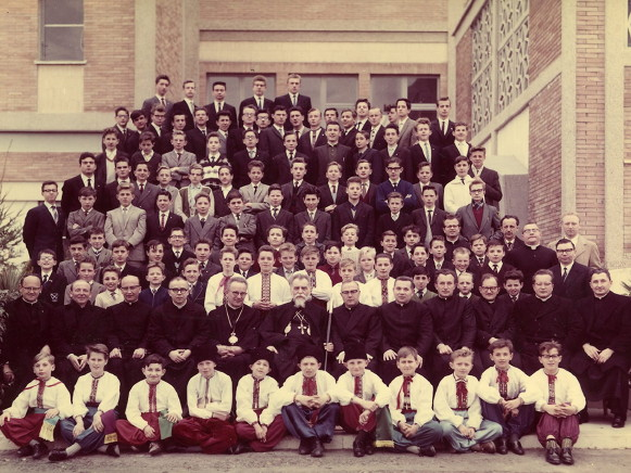 Image - Minor seminary students in Rome with Cardinal Yosyf Slipyj.