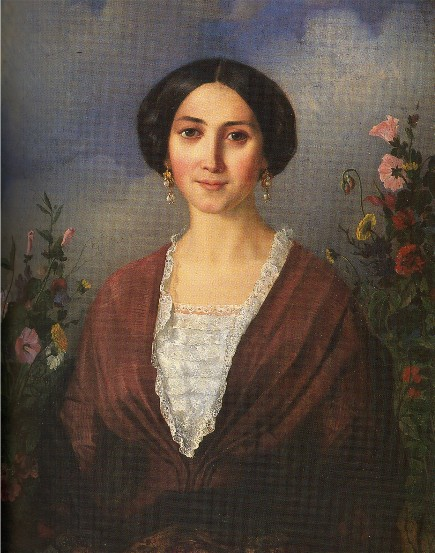 Image - Apollon Mokrytsky: The Artist's Wife (1853).