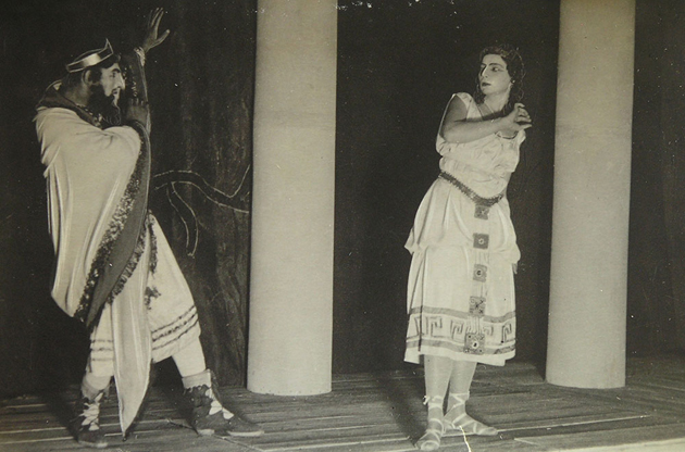 Image - A scene from Les Kurbas' production of Sophocles' Oedipus Rex in Molodyi Teatr (1918).