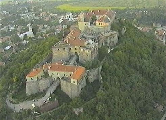 Image - Aerial view of the Mukachevo castle.