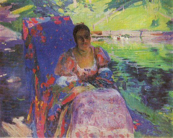 Image - Oleksander Murashko: By the Pond (1913).