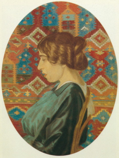Image - Yukhym Mykhailiv: Portrait of Artists Wife (1915).
