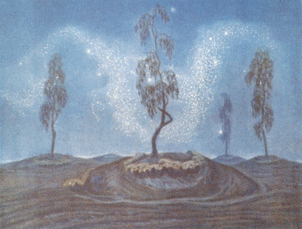 Image -- Yukhym Mykhailiv: Music of the Stars (1919).