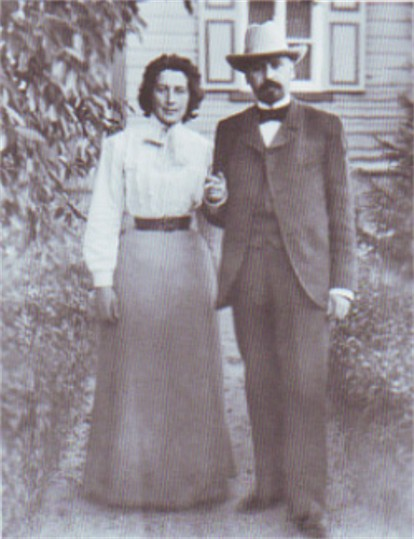 Image - Mykhailo Kotsiubynsky with his wife.