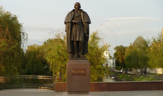 Image - Myrhorod: monument of Mykola Hohol (Nikolai Gogol) in the town center.