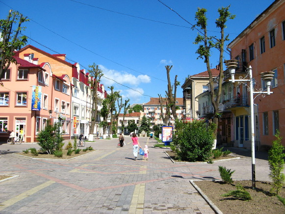 Image - One of the main streets in Nadvirna.