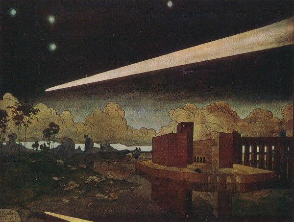 Image - Heorhii Narbut: The Comet (1910).