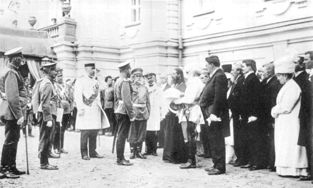 Image - Tsar Nicholas II receives deputies of Kyiv right-wing Russian organizations (including the Kyiv Club of Russian Nationalists).