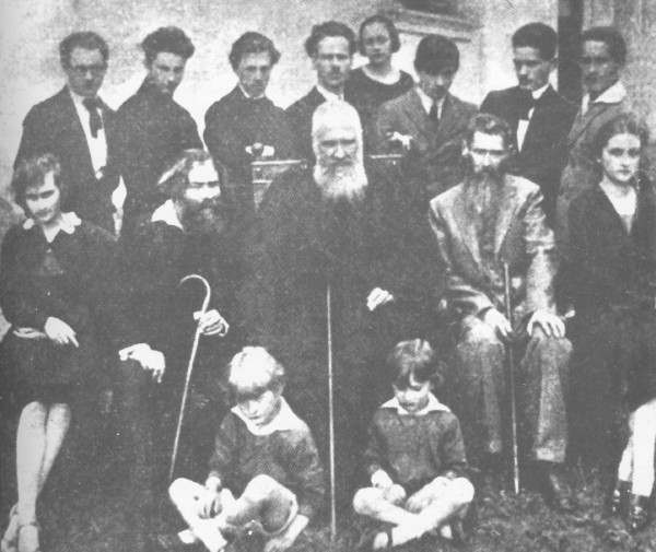 Image - Novakivsky Art School students with Oleksa Novakivsky and Metropolitan Andrei Sheptytsky.