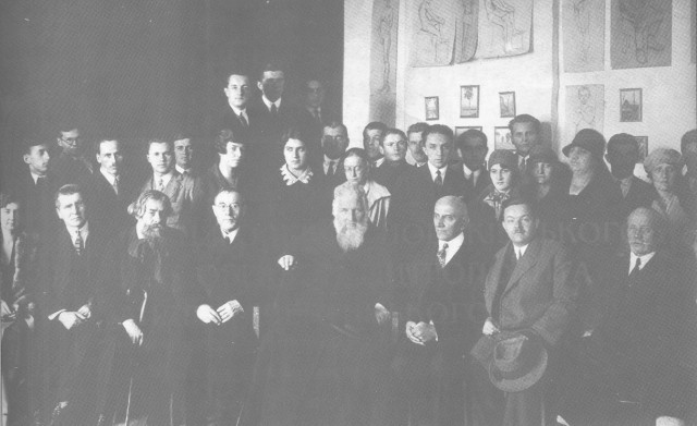 Image - Novakivsky Art School teachers and students with Metropolitan Andrei Sheptytsky.