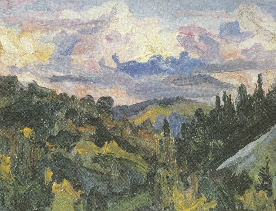Image -- Oleksa Novakivsky: Evening Approaches (1924).