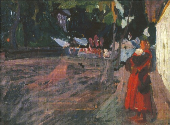 Image - Oleksa Novakivsky: A Woman on a Street (1899).
