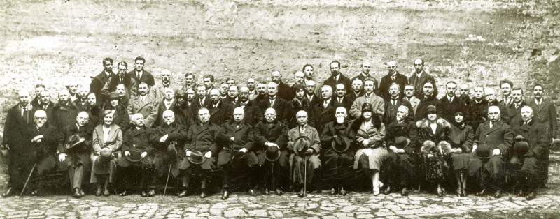 Image - Members and board of the Shevchenko Scientific Society (NTSh) in Lviv in 1932.