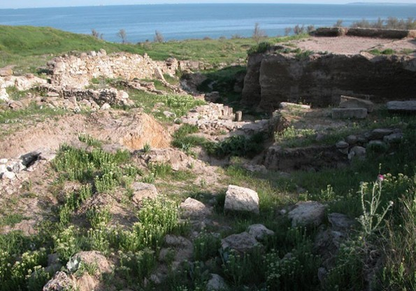 Image - The ruins of the ancient city of Nymphaeum in the Crimea.