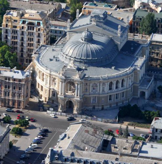 Image -- The Odesa Opera and Ballet Theater.