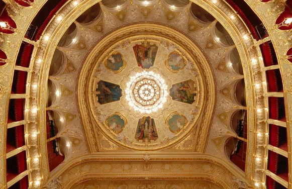 Image - The Odesa Opera and Ballet Theater (ceiling).