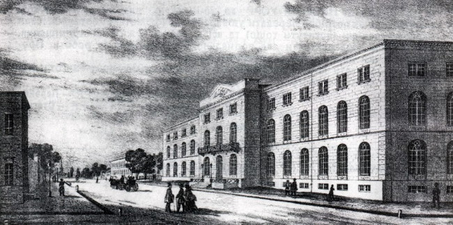 Image - Odesa University (19th-century engraving).