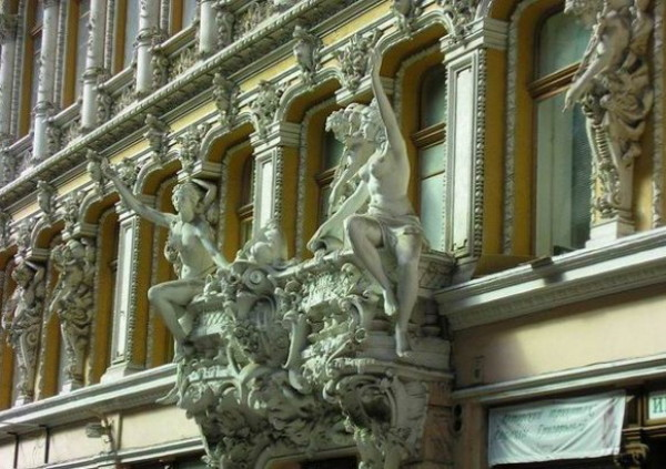 Image - Architectural ornaments on a building in Odesa.