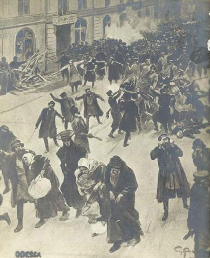 Image - A pogrom in Odesa (1905).