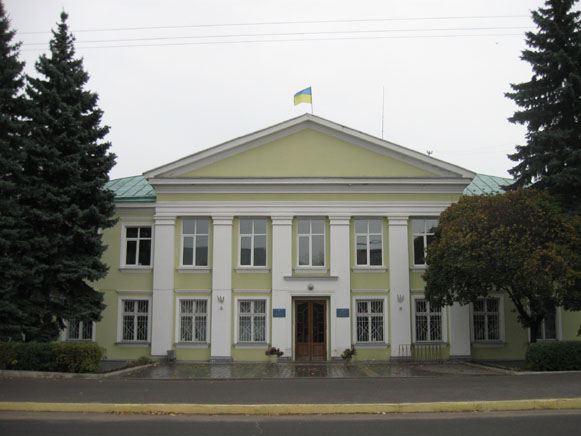 Image - Okhtyrka: city council building.