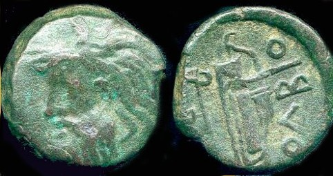 Image - An ancient Greek coin found at Olbia.