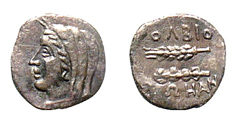 Image - A drakhma coin (3th century BC) found at Olbia (in the Odesa Odesa Archeological Museum).