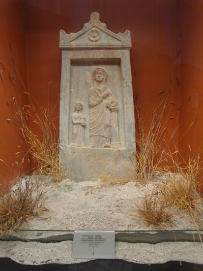 Image - A funeral stela from Olbia at the Odesa Archeological Museum.