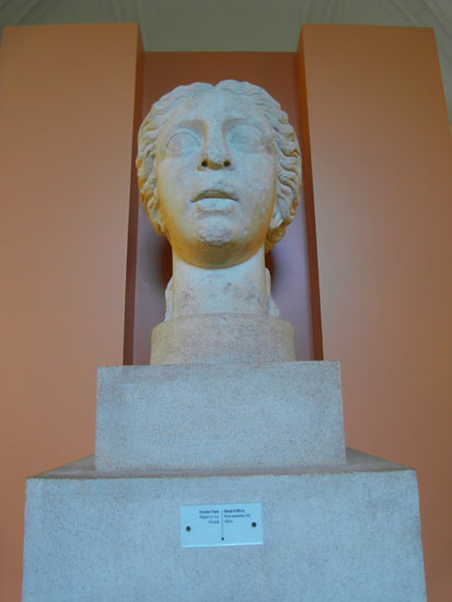 Image - The head of Hera sculpture from Olbia at the Odesa Archeological Museum.